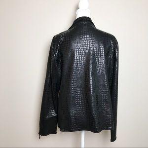 FDJ French Dressing Jackets & Coats - FDJ Faux Leather Lightweight Jacket